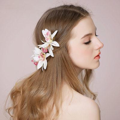 Ladies Elegant Silk Flower Hairpins