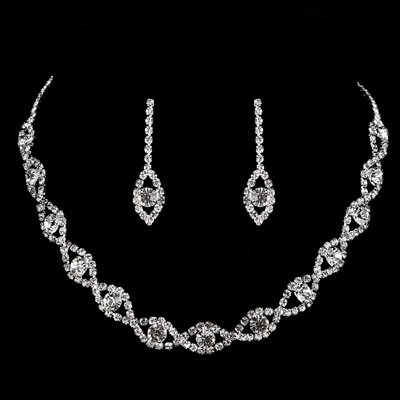 Beautiful Copper With Rhinestone Ladies' Jewelry Sets