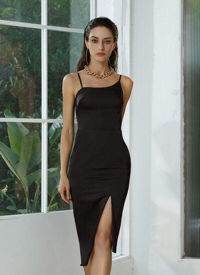 Sheath/Column Asymmetrical Homecoming Dress With Split Front