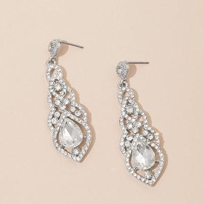 Romantic Alloy/Rhinestones Ladies' Earrings