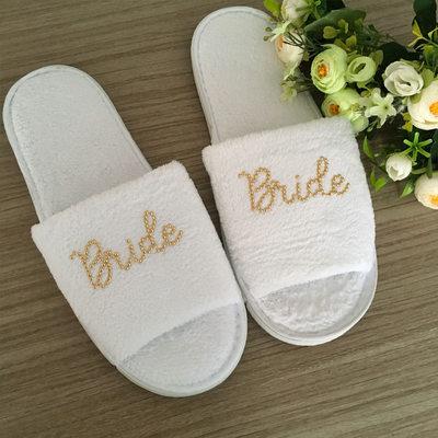 Bride Gifts - Velvet Cloth Slippers