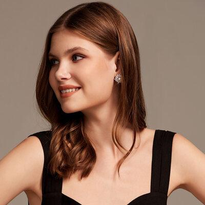 Elegant Alloy/Pearl/Rhinestones Earrings For Her