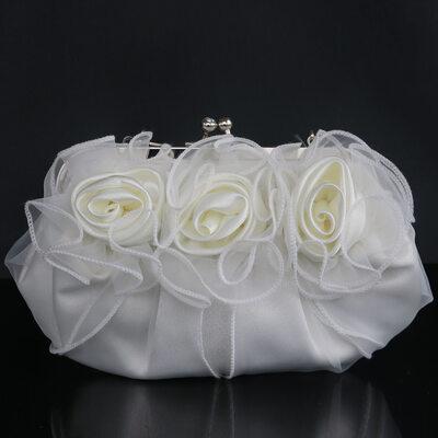 Gorgeous Silk/Tulle Clutches/Satchel/Bridal Purse/Evening Bags
