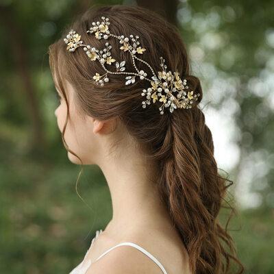 Ladies Beautiful Rhinestone/Imitation Pearls/Copper Hairpins (Sold in single piece)