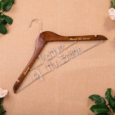 Bride Gifts - Personalized Elegant Wooden Hanger