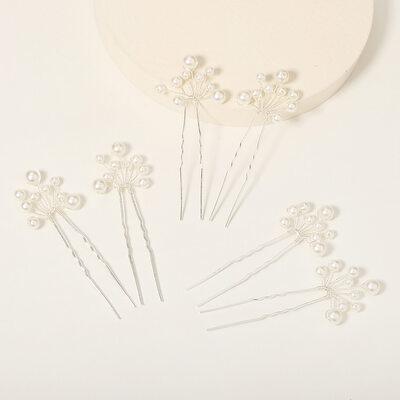 Elegant Imitert Perle Hårnåler med Perle