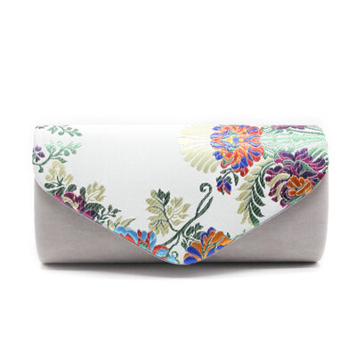 Elegant/Unique/Charming/Attractive Flannelette Material With Embroidery Clutches/Evening Bags