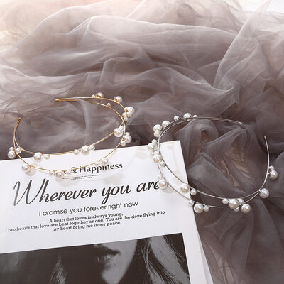 Klassisk stil Imitert Perle Tiaraer