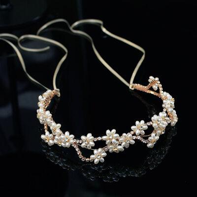 Beautiful Alloy/Imitation Pearls Headbands (Sold in single piece)
