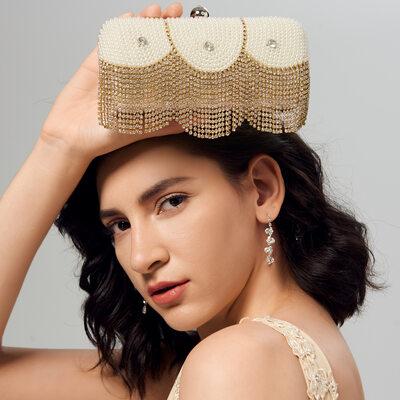 Elegant/Gorgeous/Unique/Charming PU With Crystal/ Rhinestone/Imitation Pearl Clutches