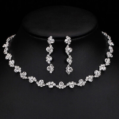 Ladies' Fashionable Alloy/Rhinestones Jewelry Sets