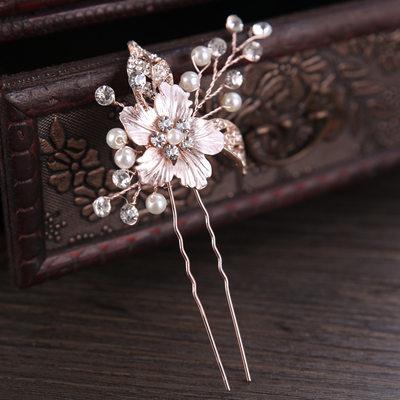 Ladies Pretty Rhinestone/Alloy/Imitation Pearls Hairpins With Rhinestone