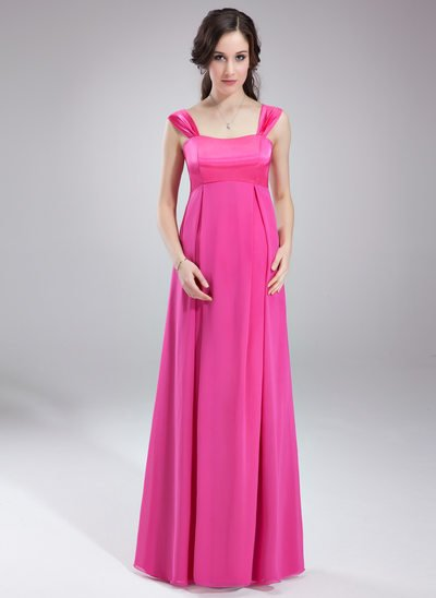 Empire Sweetheart Floor-Length Chiffon Maternity Bridesmaid Dress With Ruffle