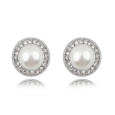 Classic Alloy/Pearl With Rhinestone Ladies' Earrings