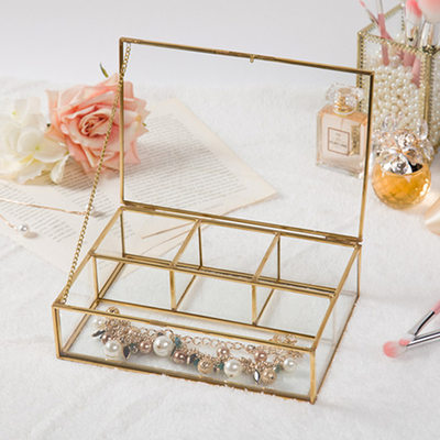 Bride Gifts - Glass Alloy Jewelry Box