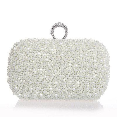 Elegant Pearl Clutches/Satchel
