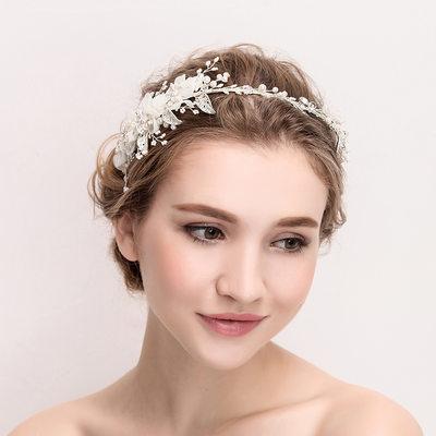 Ladies Beautiful Crystal/Alloy/Imitation Pearls/Silk Flower Tiaras