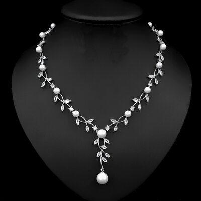 Damene ' Elegant Legering/Perle Halskjeder