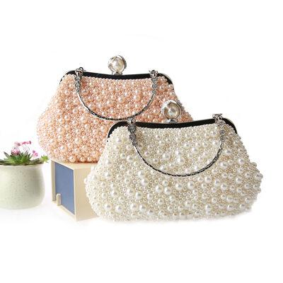 Imitation Pearl Elegant Evening Bags
