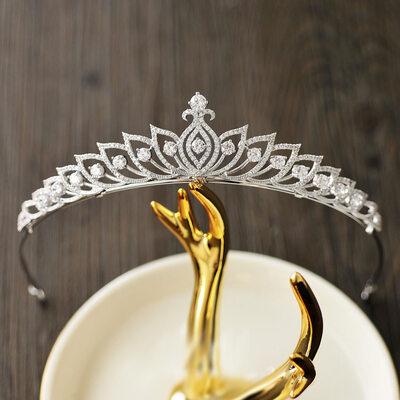 Elegant Sølv/Zirkon med Kubikk Zirkonia