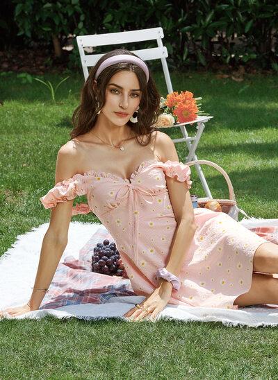 A-Line Sweetheart Short/Mini Homecoming Dress With Ruffle