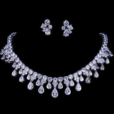 Ladies' Classic Copper/Zircon Jewelry Sets