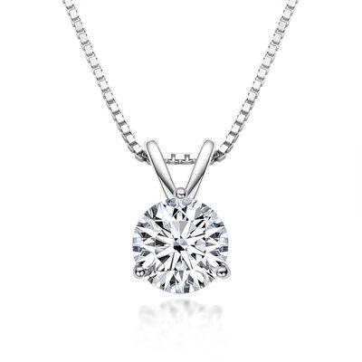 Damene ' Klassisk stil 925 sølv og Kjetting moissanite Innledende halskjeder Halskjeder