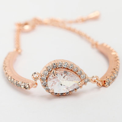 Link & Chain Bridal Bracelets - Valentines Gifts For Her