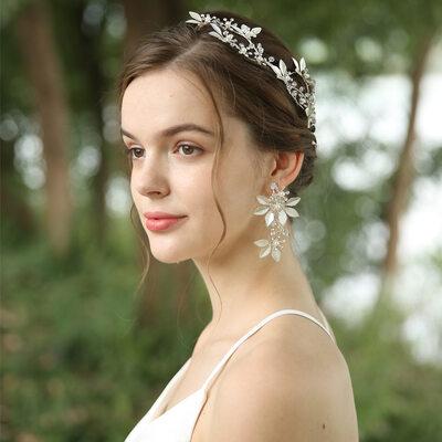 Ladies Beautiful Crystal/Rhinestone/Alloy/Imitation Pearls Headbands (Set of 3)