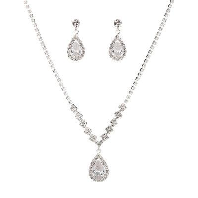 Ladies' Shining Alloy/Rhinestones Jewelry Sets