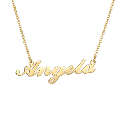 Custom 18k Gold Plated Silver Name Necklace - Birthday Gifts