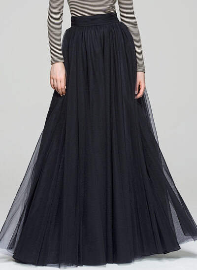 A-Line/Princess Floor-Length Tulle Cocktail Skirt