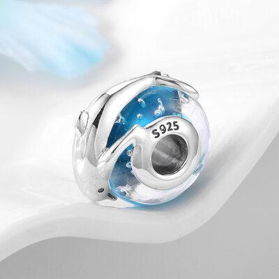 Perler med Murano Glass Delfin - Valentines Gaver