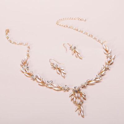 Elegant Rhinestones/Imitert Perle med Rhinestone/Imitert Perle Damene ' Smykker Sett