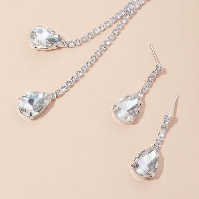 Elegant kobber/Sølv med Rhinestone Damene ' Smykker Sett