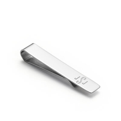Personalized Modern Mens Stainless Steel Tie Clip