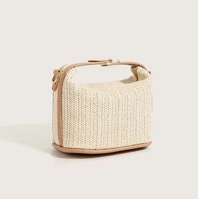 Unique Straw Top Handle Bags