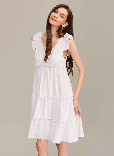 A-Line V-neck Short/Mini Homecoming Dress