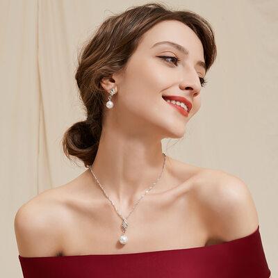 Elegant Alloy/Rhinestones/Imitation Pearls With Rhinestone Ladies' Jewelry Sets
