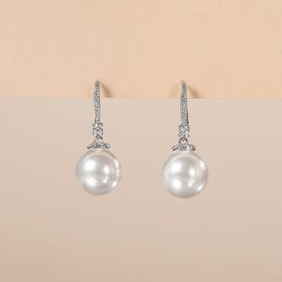 Elegant Copper/Zircon With Cubic Zirconia Ladies' Earrings