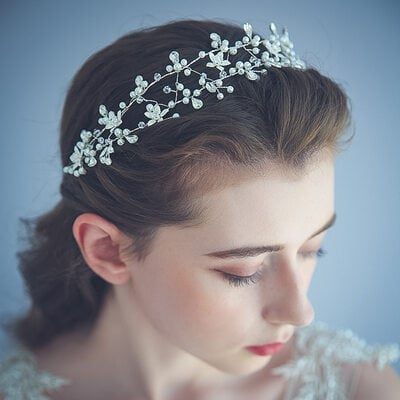 Ladies Gorgeous Alloy/Copper Headbands With Rhinestone/Venetian Pearl/Crystal
