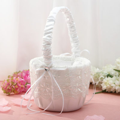 Brudepike Gaver - Elegant Blonder Flower Basket