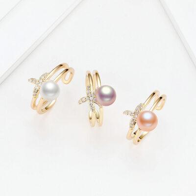 Ladies' Unique Pearl Rings