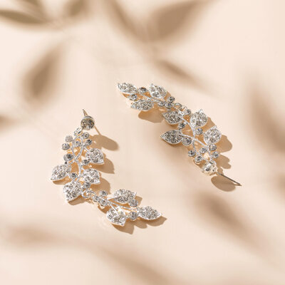 Magnificent Alloy With Rhinestone Ladies' Earrings