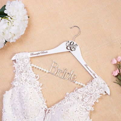 Bride Gifts - Personalized Special Delicate Wooden Hanger