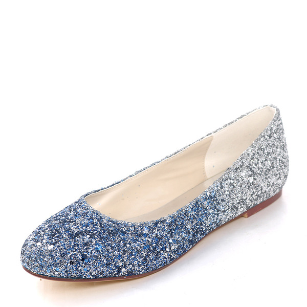 Women's Sparkling Glitter Flat Heel Flats With Others