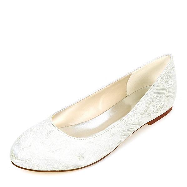 Kvinner silke som sateng Flat Hæl Flate sko med Annet