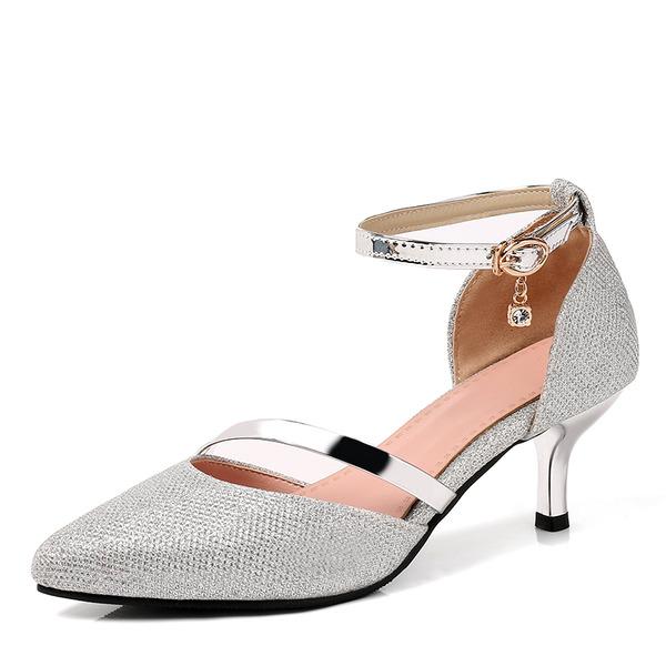 Women's Leatherette Stiletto Heel Pumps With Sequin