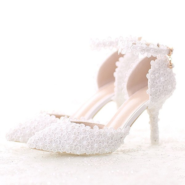 Women's Patent Leather Stiletto Heel Pumps Sandals With Feather Rhinestone Sequin Lace-up