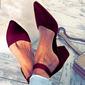 Kvinner Stoff Stiletto Hæl Sandaler med Annet sko